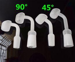 ciotola di vetro di quarzo di 14mm Sconti DHL 4mm Spessore Quarzo Chiodo Quartz Banger Chiodo 10mm 14mm 18mm Maschio Maschio Ciotola Domeless Nail Joint Vetro Olio Rigs Bong di Vetro