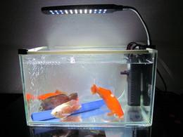 2019 serbatoio di pesci dell'acquario dei leds Kit luci acquario per acquari a LED per acquari, led lgihts, 24 LED, colore chiaro bianco e blu serbatoio di pesci dell'acquario dei leds economici