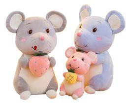 25/35/45 cm nuovo marchio Cute Cotton attesa Frutta Piccolo mouse bambola della bambola della peluche Ratto del giocattolo di compleanno Presente cuscino bambola per i bambini da