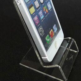 Новый акриловый сотовый телефон мобильный телефон дисплей стенды держатель стенд для 6 дюймов смартфон samsung HTC DHL быстрая доставка Оптовая от Поставщики акриловые подставки для телефона