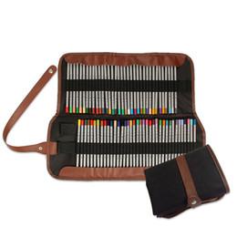 Sacchetto di immagazzinaggio professionale Pencil Wrap Soft Accessorio Canvas Cover Brush Pen Holder Stationery Roll Case Painting da