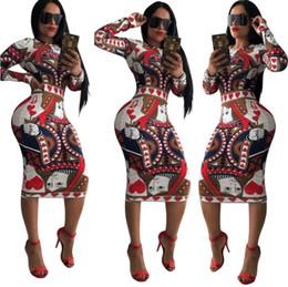 Argentina Moda mujer O-cuello de manga larga de impresión bodycon dress sexy rodilla-longitud club party dress vendaje del otoño lápiz vestidos multicolor al por mayor supplier long kimono wholesale Suministro