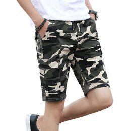 Шорты тренировочные мужские онлайн-TECHOME Casual Cotton  Camo Workout Bermuda Shorts For Men 2019 Hot Camouflage Cargo Mens Summer Quick Dry Board Shorts