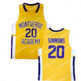 d5257869e97e 2019 ben simmons jersey BEN SIMMONS   20 Montverde Academy ALTA SCUOLA JERSEY  Stitch Maglia da