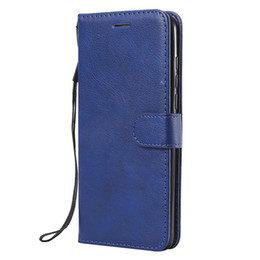 stand bags Promo Codes - For Huawei P30 Lite Case Flip Cover Wallet Stand Pure Color PU Leather Mobile Phone Bags Coque Fundas For Huawei Nova 4e