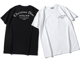 2019 neue männer frauen sup schwarz und weiß Di T-Shirt bb oder kurzarm Oansatz T-Shirt Kanye West Brief Print Sportwear großhandel von Fabrikanten