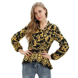 Xxl größe damen t-shirts online-Frauen 2019 T Shirt Mode Druck Unregelmäßige Lose Lange Ärmel Dame Big Size Casual Tops Schnürung XXL