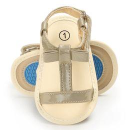 Sapatilhas abertas on-line-Meninas do bebê Verão T-Strap Sandália Sola Macia Aberta Toe Infantil CIB Sneakers Sandálias com Bowknots