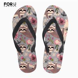7f41f048b1c 2019 sandalias de agua para niñas FORUDESIGNS Verano Mujer Chanclas Lindo  Perezoso Patrón Floral Zapatillas de