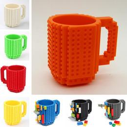 Ladrillos de bloques online-Drinkware Building Blocks Tazas DIY Block Puzzle Mug 350Ml Build-On Brick Taza creativa Tazas de café Taza 7005