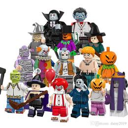 brinquedos do homem-aranha azul Desconto Halloween Palhaço Bruxa Espantalho Zombie Fantasias Do Casamento Homem Abóbora Vampiro Brinquedos PG8171