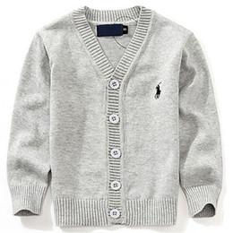 chaqueta de bebé de moda Rebajas 2019 Moda New Kids Sweater Otoño Niños Polo Cardigan Coat Baby Boys Girls chaqueta de un solo pecho Suéteres desgaste exterior
