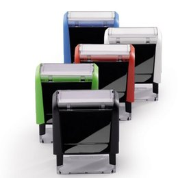 Sellos verdes online-Bbloop personalizable sello autoentintado, rectangular. Grabado por laser. Rojo / negro / azul Q190528