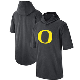 Oregon ducks pantaloncini online-Mens Oregon Ducks 2020 Sargeline Performance Shorts Sleeve con cappuccio Top TEE stampato College Football Felpe con cappuccio T-shirt Felpe