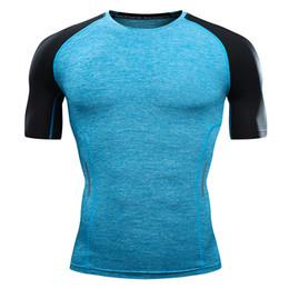 De secado rápido, camiseta de los hombres delgados, camiseta, camisa de compresión, camisa, musculación, gimnasio, manga corta, para hombres desde fabricantes