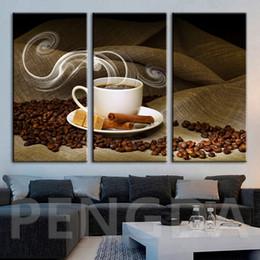 kaffee leinwand bild Rabatt Leinwand Hd Gemälde Wandkunstwerk Dekoration Modulare Kaffee Dessert Bilder Moderne Gedruckt Poster Für Wohnzimmer Gerahmt