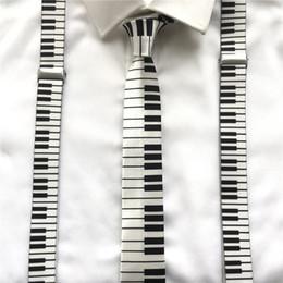 suspensórios de crânio Desconto Crianças adultas Unisex Suspender Set Escritório Suspensórios Elásticos Casuais Música Piano Crânio Y-Forma Cintas Clip-on com Laços