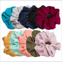 Hairbands Katı Scrunchie At Kuyruğu Saç Tutucu Halat Şifon Headdress Elastik Balıksırtı Saç Kravat Accesorios Moda Toka Bandı 4850 nereden bebek kızı vaftizi saç aksesuarları tedarikçiler