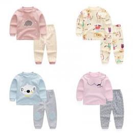 d4bef02c76521 2019 рождественские пижамы для девочек Дети нижнее белье устанавливает  Рождество пижамы хлопок осень наряды с длинным