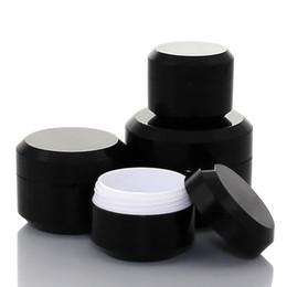 Maquiagem sombra pacote on-line-5G 10G 15G 30G Vazio Creme Frasco De Embalagem De Cosméticos De Plástico Garrafa de Sombra de Maquiagem Preto Pote De Embalagem