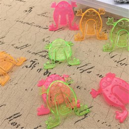 kids wholesale goodies Coupons - 10PCS 4.3*4.3cm Jumping Frog Hoppers Game Kids Party Favor Birthday Party Toys for Girl Boy Goody Bag Pinata Fillers