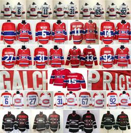 Montreal Canadiens # 6 Shea Weber 11 Brendan Gallagher 13 Max Domi 27 Alex Galchenyuk 31 Carey Preis 92 Drouin 15 Jesperi Kotkaniemi Jersey von Fabrikanten