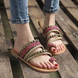 4b91a1c1a 2019 sandalias planas etnicas Sandalias de moda para mujer bohemio viento  étnico gladiador sandalias zapatos planos