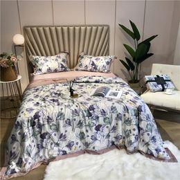 cobertores de seda rei Desconto Ar condicionado de verão Tencel Seda Consolador Throw Blanket King Size Queen Colcha de cama capa de cama espalhar colcha couvre lit