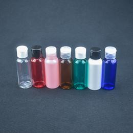 bottiglie all'ingrosso dell'olio di massaggio Sconti Flacone da viaggio cosmetico da 50ml con tappo a scatto Flacone da imballaggio in plastica PET riutilizzabile Emulsione di olio essenziale per trucco Contenitori per divisori