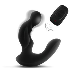 Canada Levett prostata massage, Sex toys anal contrôle à distance pour Masseur de prostate Spot Gay G hommes, Double moteur Anal Vibrator Butt Plug Offre