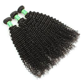 Melhor extensão de cabelo remy encaracolado on-line-Encaracolado beleza funciona extensões de cabelo Grau 8A Feixes de Cabelo Humano 8-28 polegada barato tecer cabelo humano melhor lugar para comprar