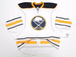 Cheap custom BUFFALO SABRES AWAY TEAM ISSUED EDGE 2.0 7287 JERSEY stitch  add any number any name Mens Hockey Jersey XS-6XL 60bd95eac