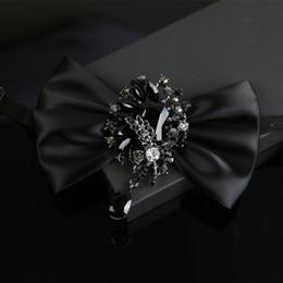 i-Remiel Ruban De Diamant Fleurs Nœud Papillon pour Les Hommes Costume Robe De Chemise De smoking Cols Arcs Mariage Groom Bowknot Cravates Musical Cravates ? partir de fabricateur
