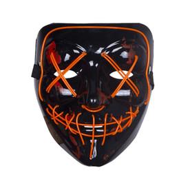 Máscara de Halloween Máscaras de fiesta con luz LED Año de elección de purga Grandes máscaras divertidas Festival Suministros de disfraces de cosplay Brillan en la oscuridad desde fabricantes