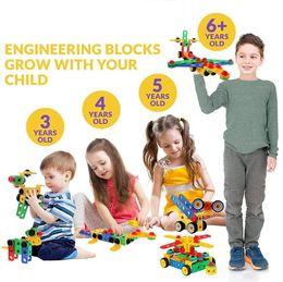 2019 blocs d'activité 87pcs bricolage avion voiture jouets pour animaux kit construction éducation ingénierie blocs de construction d'apprentissage ensemble pour les enfants, jeux créatifs activité amusante promotion blocs d'activité