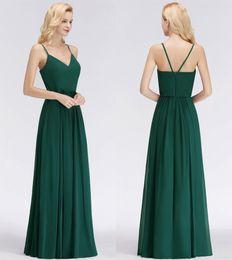 ea2c14a0d892 2019 verde oliva più abiti damigella d onore di formato Semplici abiti da  damigella d