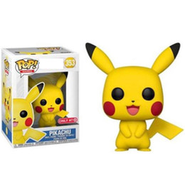 model pop Coupons - Funko POP Anime Cartoon Pikachu Vinyl Action Figures Brinquedos Collection Model Toys for Children Christmas Gift