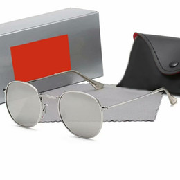 gafas aviador para hombre Rebajas 2019 Aviator Ray Gafas de sol Vintage Pilot Brand Band UV400 Protección Prohibiciones Hombres Mujeres Hombres Mujeres Ben wayfarer gafas de sol con caja caja m2
