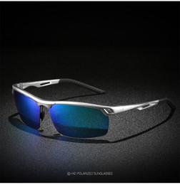 Erkek Polarize Güneş Gözlüğü erkek Trend Alüminyum Magnezyum Alaşımlı Moda Güneş Gözlüğü Spor Sürüş Gözlük + Kutu nereden