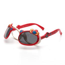 Occhiali da sole infantile online-vendita all'ingrosso Bambino carino gatto flip up occhiali da sole polarizzati bambini bambino neonato cartone animato TAC TR90 occhiali da sole occhiali da sole all'aperto