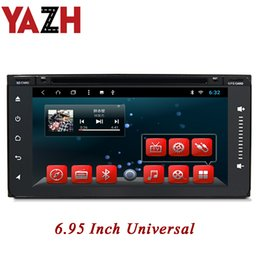 Toyota prado dvd player онлайн-YAZH 2 Din Автомобильный DVD В GPS-навигаторе приборной панели DVD-плеер Для Toyota старый Corolla Fortuner Camry Corolla Prado 6,95-дюймовый полный сенсорный экран