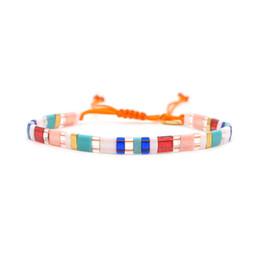 Ювелирные украшения стиля boho онлайн-Shinus Tila  Bracelet 2019 Colorful Pulseira Mujer Boho Chic Style Bohemian Bracelets For Women MIYUKI Adjustable Jewelry