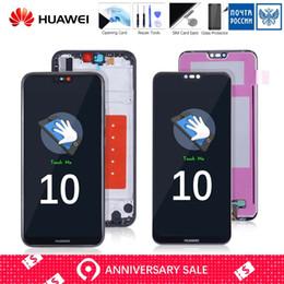 супер экран бесплатная доставка Скидка Complete Original LCD For HUAWEI P20 Lite Display Touch Screen with Frame Replace for HUAWEI P20 Lite LCD ane-lx1 lx1 Nova 3e