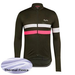 bicycle winter Promo Codes - 2019 Winter Thermal Fleece cycling clothing men RAPHA Team cycling jersey long sleeve shirts maillot ciclismo mtb bicycle tops Y052007
