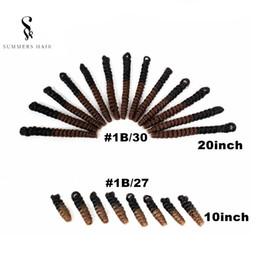 Наращивание волос пушистой пружинной твист 10