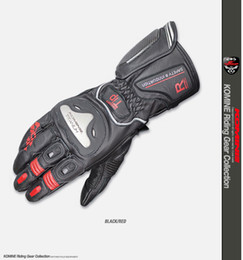 2019 titan motorrad handschuhe Komine GK169 Titanlegierung Leder Motorrad Racing Handschuhe günstig titan motorrad handschuhe