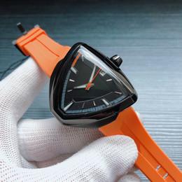 Relojes de moda usa online-Cuero de lujo de muchos colores de moda reloj Hami1tooon 316steel 41mm zafiro triángulo automático movimiento mecánico de los hombres de EE.UU. PVD Aventura