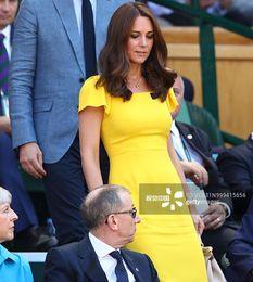 2019 vestidos amarillos sólidos Kate Middleton Princess Amarillo Sólido Vestido Elegante Mujer Mariposa Manga Vestidos 5xl 680mp vestidos amarillos sólidos baratos