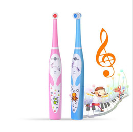 Müzik Çocuk Elektrikli Diş Fırçası Diş Elektrik Temizleme Fırçası Çocuklar Ultrasonik Şarj edilebilir Diş Fırçası Bebek SonicMusic çocuk elektrikli çok nereden diş ipi tedarikçiler