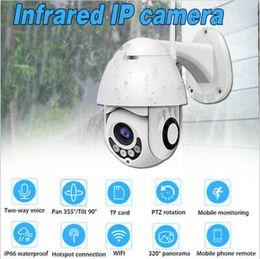 cámaras de zoom largo Rebajas 1pcs HD 1080P impermeable al aire libre de la cámara domo de cámara inalámbrica Wifi Monitoreo remoto panorámica de la cámara PTZ CCTV Seguridad para el Hogar